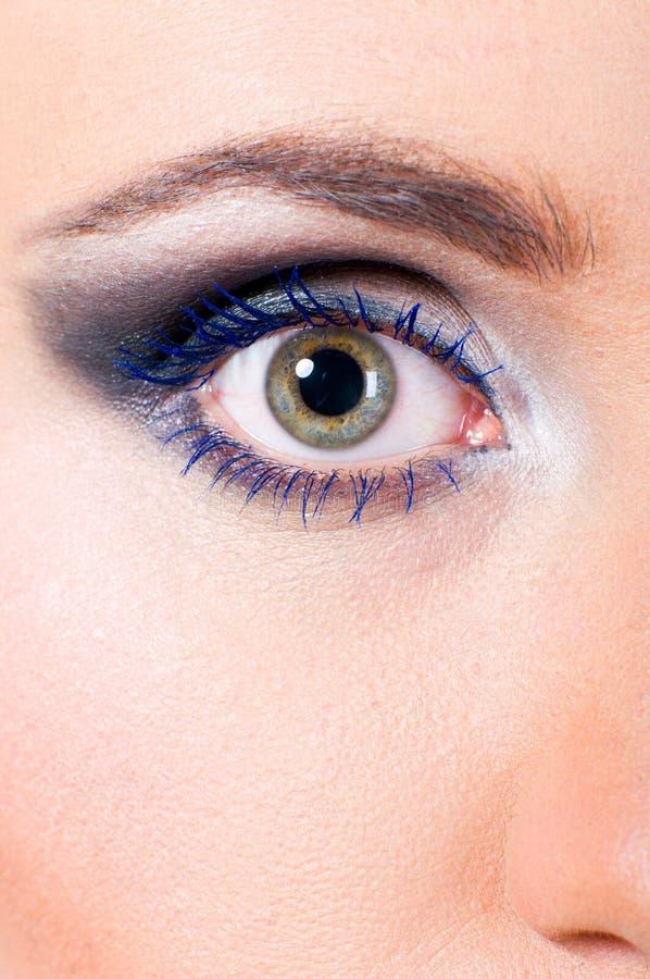 Macro femenina del ojo fotos de archivo