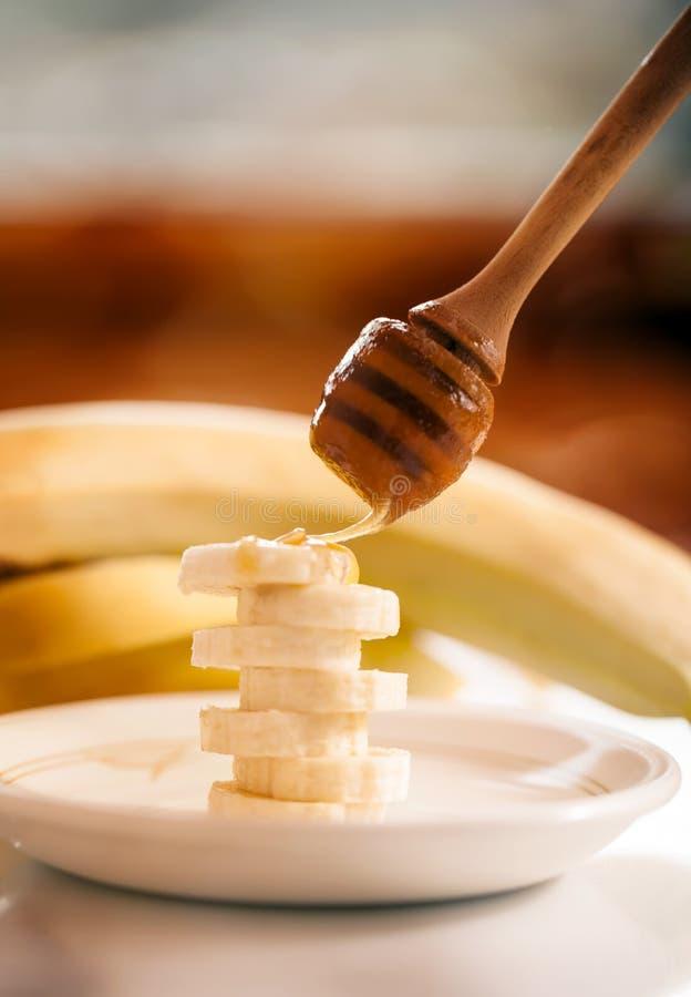 macro fondo dell'alimento con la banana fotografia stock libera da diritti