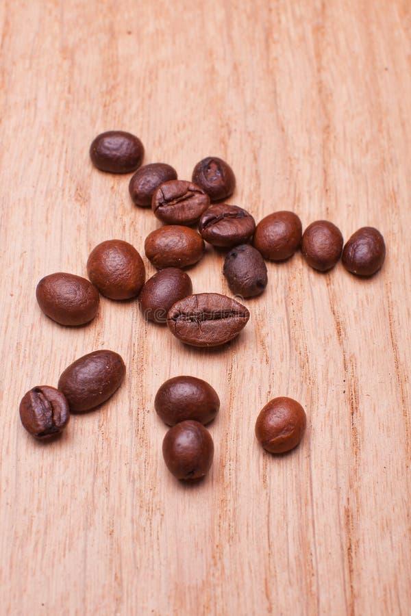 Macro foto dei chicchi di caffè fotografia stock