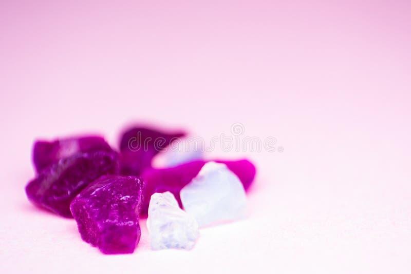 Macro foto della lettiera della silice cristalli del diossido di silicio immagine stock