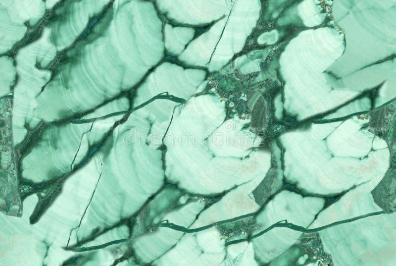 Macro foto della malachite scura e verde chiaro dei seamles immagine stock libera da diritti