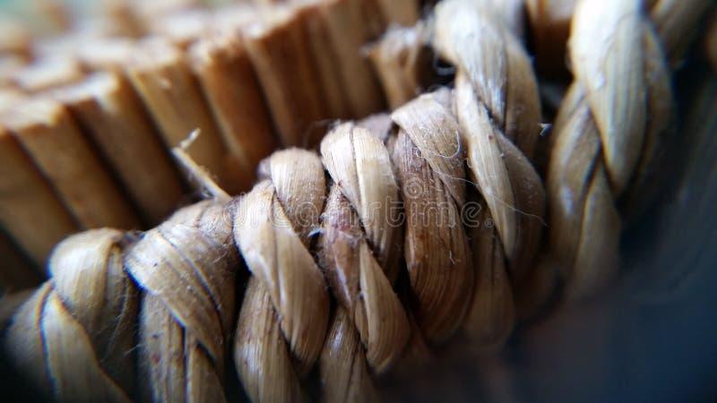 Macro fotografia del dettaglio tessuto del canestro fotografie stock libere da diritti