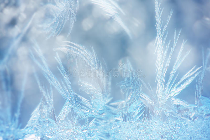 Macro frost. Abstract macro of frost crystals royalty free stock images