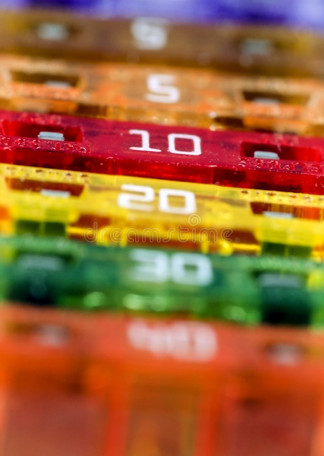 Macro Fuses - Narrow Focus stock photos