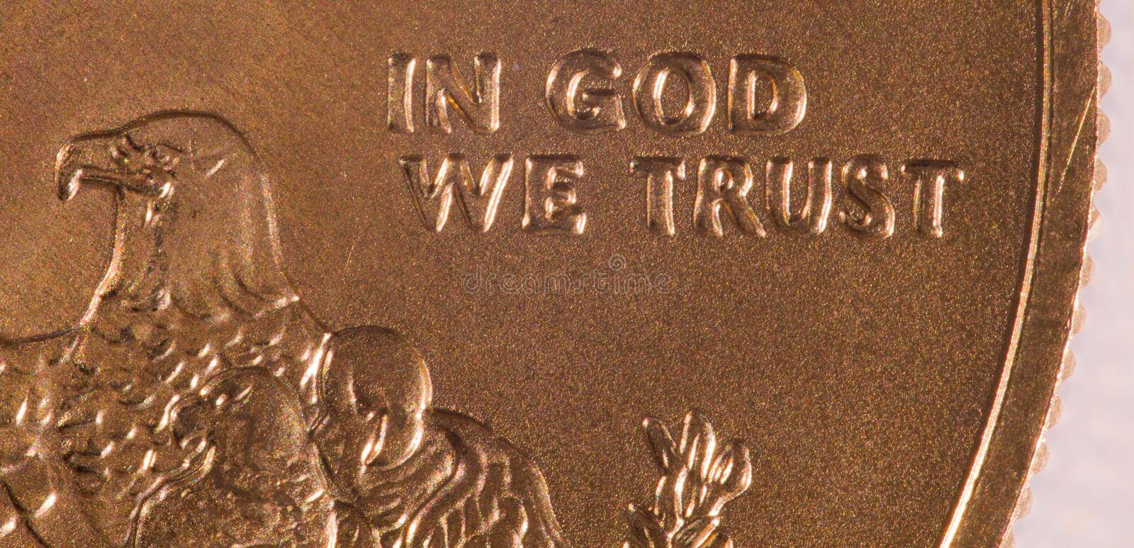 Download Macro of In God we Trust stock image. Image of reserve - 22069545