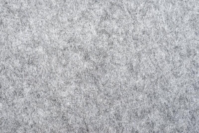 Macro of grey felt texture. For backgrounds stock photo
