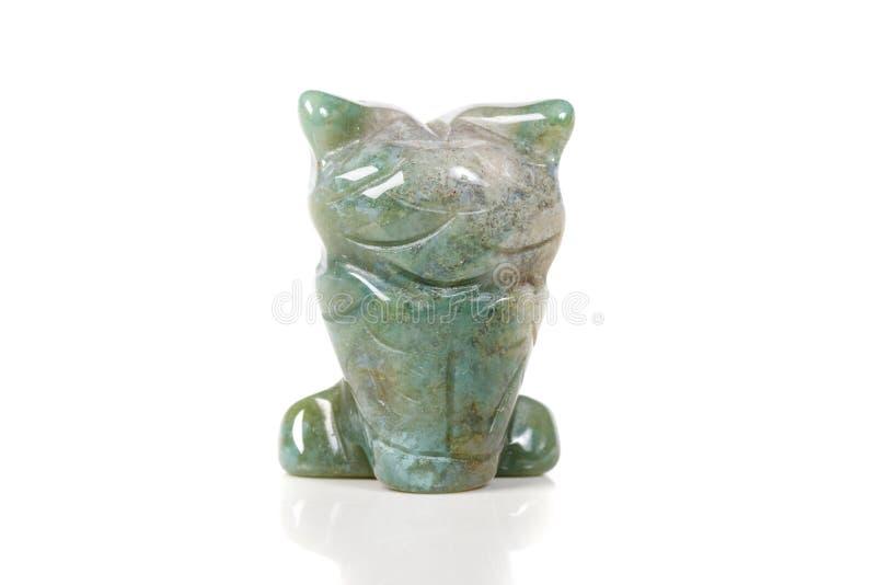 Macro hibou en pierre minéral d'agate de mousse image stock