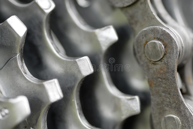 Macro Image, Rear Gear Set. royalty free stock photography