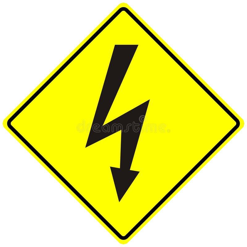 Macro isolado do perigo elétrico sinal de alta tensão fotografia de stock royalty free