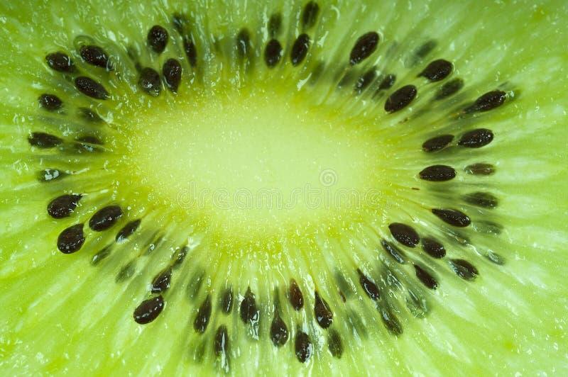 Macro Kiwi Fruit. Macro Kiwi Seed - close-up royalty free stock photography