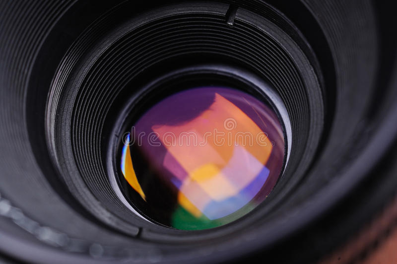Macro lens. Camera SLR macro standard lens close up stock photography