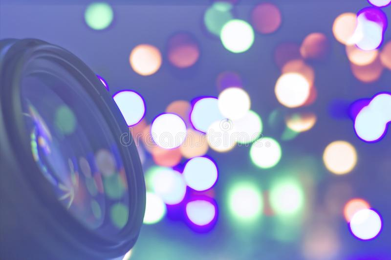 Macro lens. Photos .Reflected light royalty free stock photography