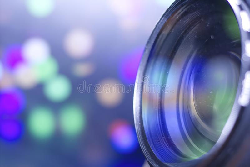 Macro lens. Photos .Reflected light stock image