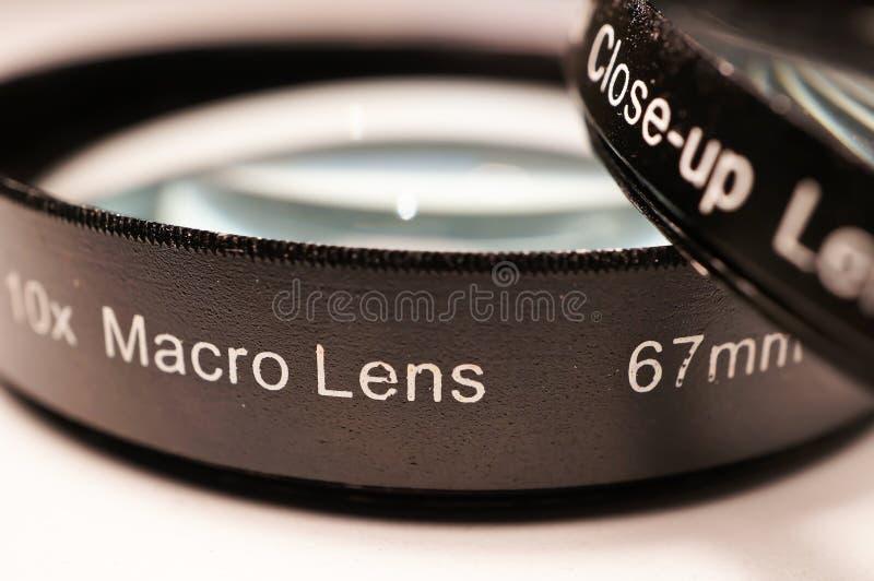 Macro lenzen voor camera stock afbeeldingen