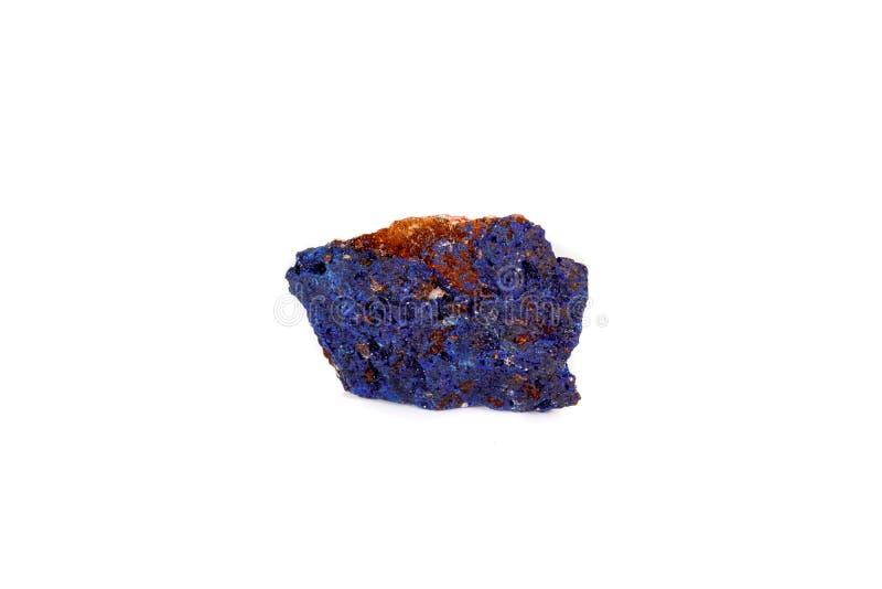 Macro malachite et azurite en pierre minérales sur le fond blanc photo libre de droits