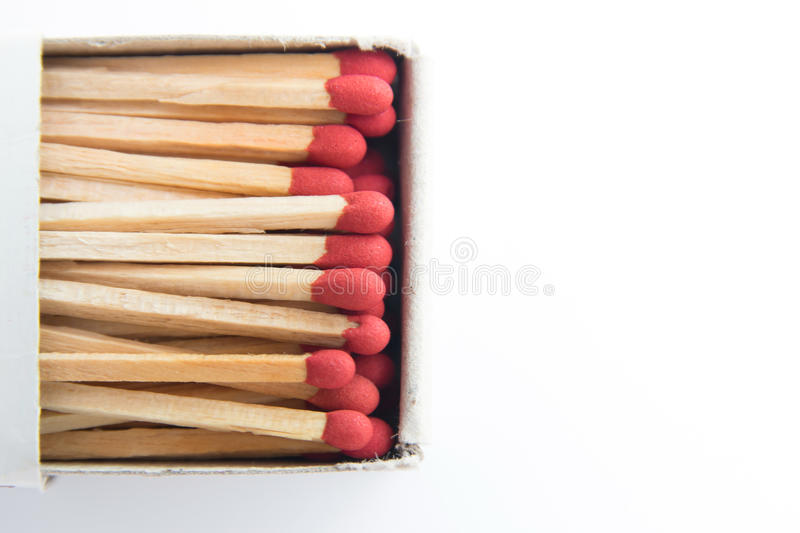 Macro of matches stock photography