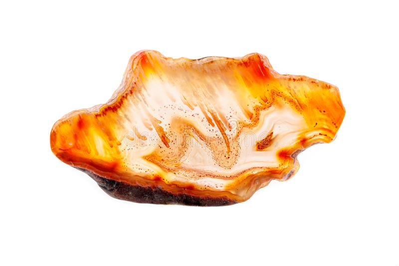 Macro mineral stone agate on a white background. Close up stock image