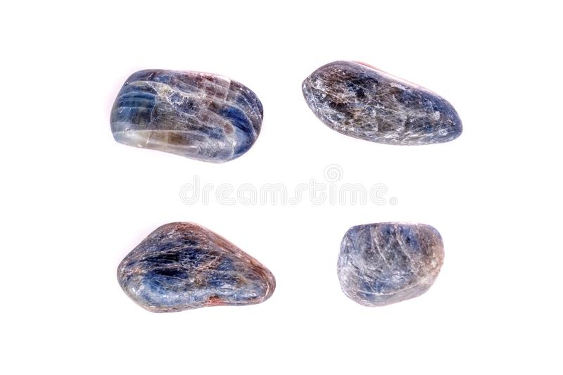 Macro mineral stone sapphire on white background stock image