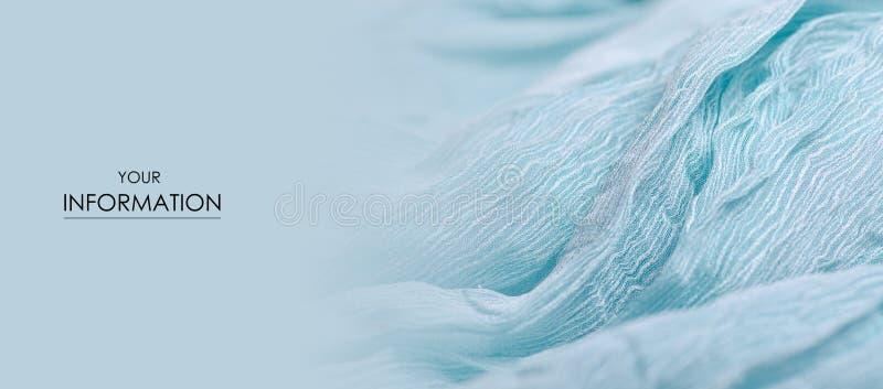 Macro modello del turchese del tessuto del panno del materiale del tessuto blu di struttura immagine stock libera da diritti