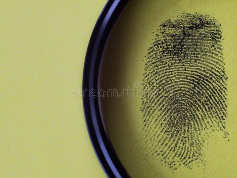 Macro negra de la huella dactilar imágenes de archivo libres de regalías