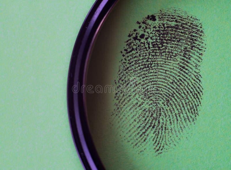 Macro negra de la huella dactilar fotografía de archivo libre de regalías