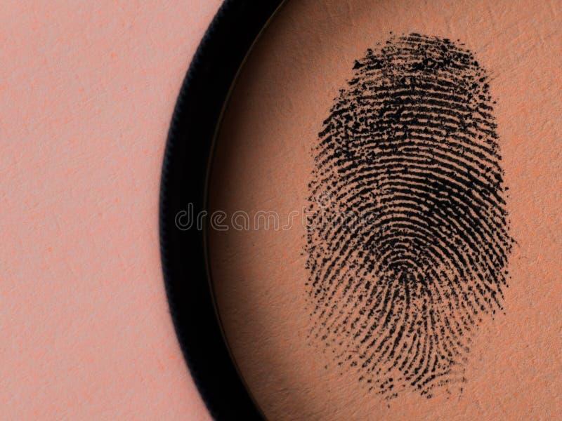 Macro negra de la huella dactilar foto de archivo libre de regalías