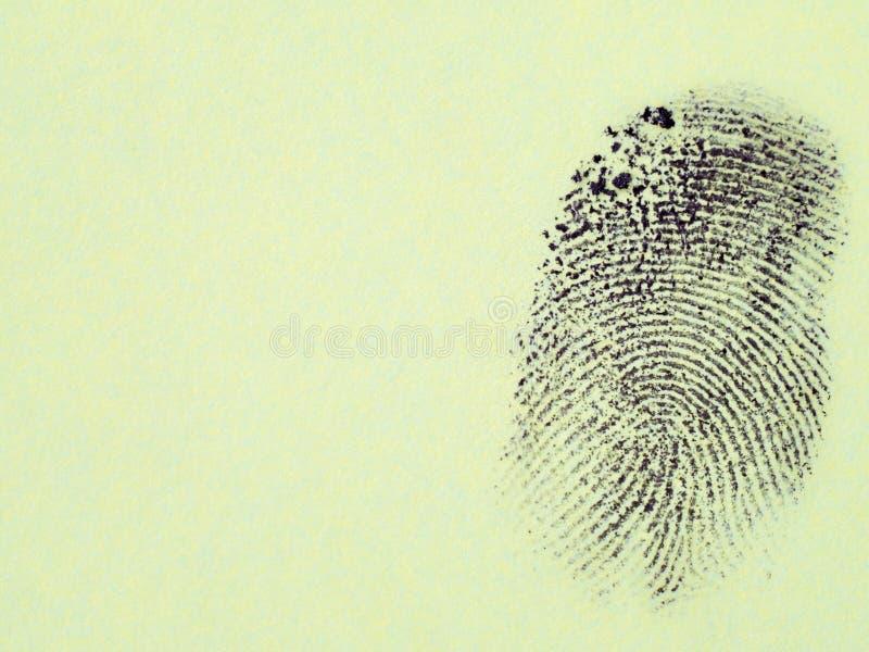 Macro negra de la huella dactilar foto de archivo