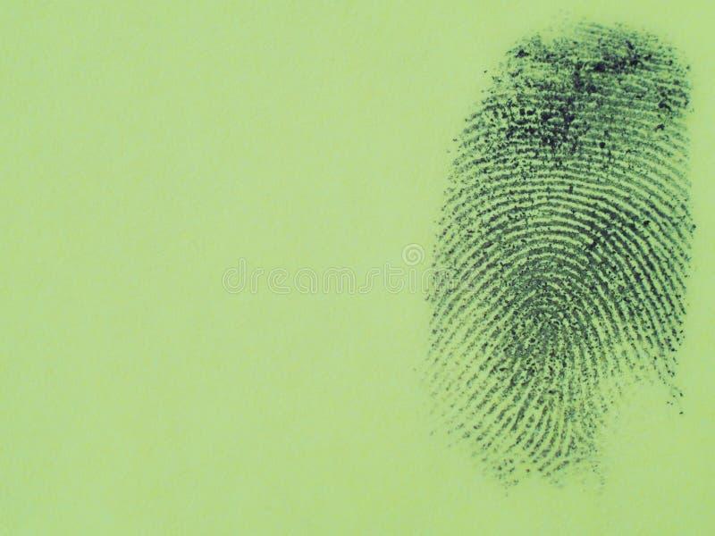 Macro negra de la huella dactilar imagenes de archivo