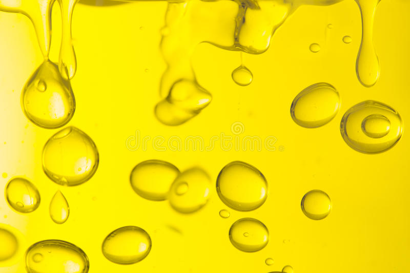 Macro of oil drops. Abstract macro background stock photography