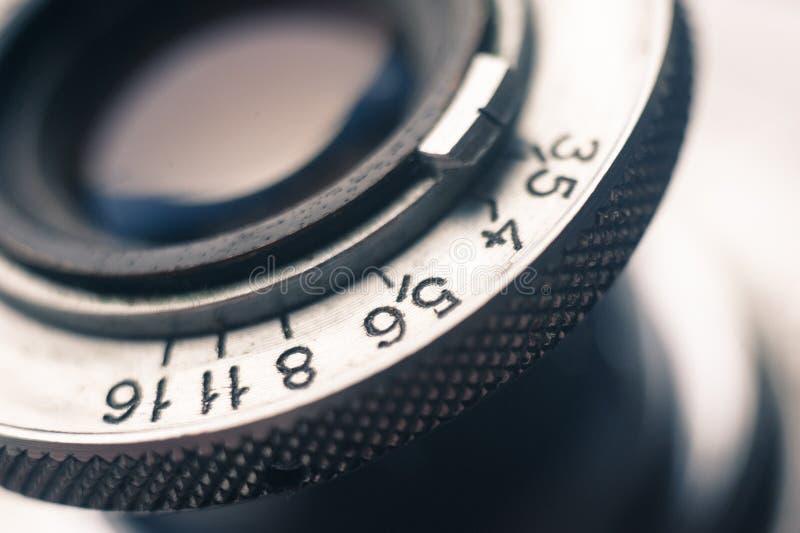 Macro Of Old Retro Film Camera Lens Royalty Free Stock Photography