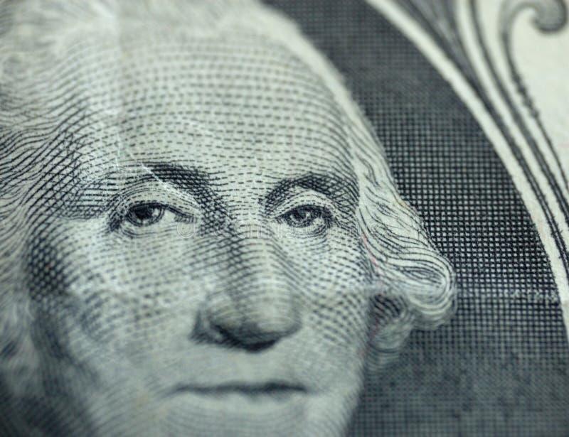 Macro of one dollar royalty free stock photography