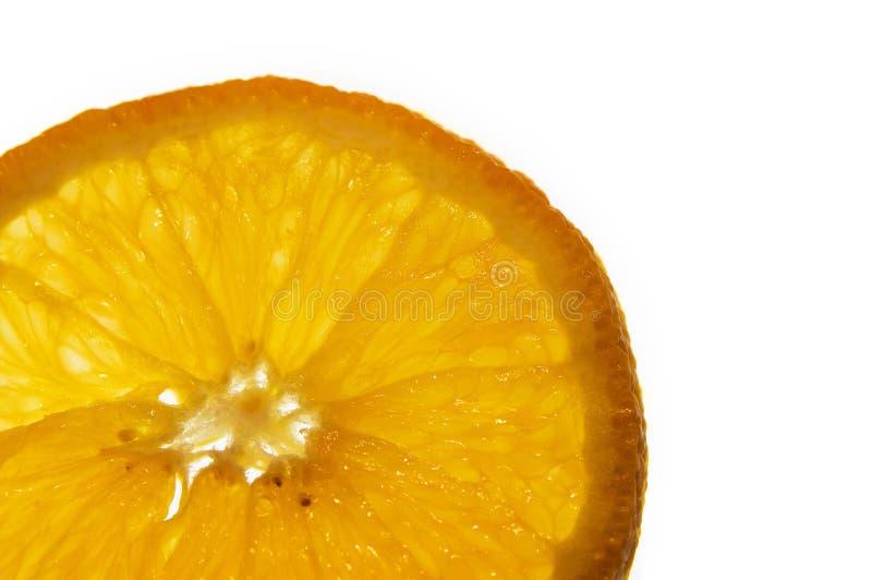 Macro Of An Orange Slice Stock Image