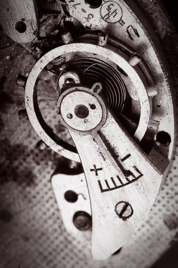Macro oud mechanisme royalty-vrije stock afbeeldingen