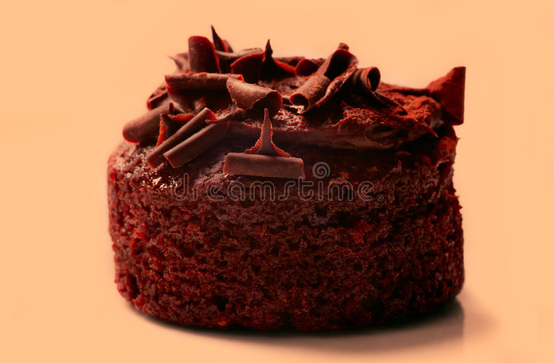 Macro pain de gâteau de chocolat image stock