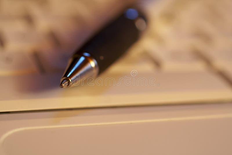 Macro of a pen stock photography