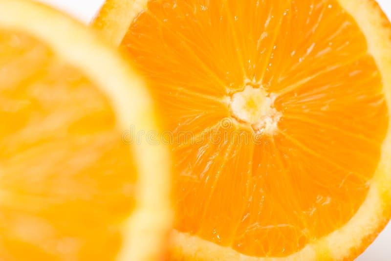 Macro photo d'une orange pour des milieux photographie stock