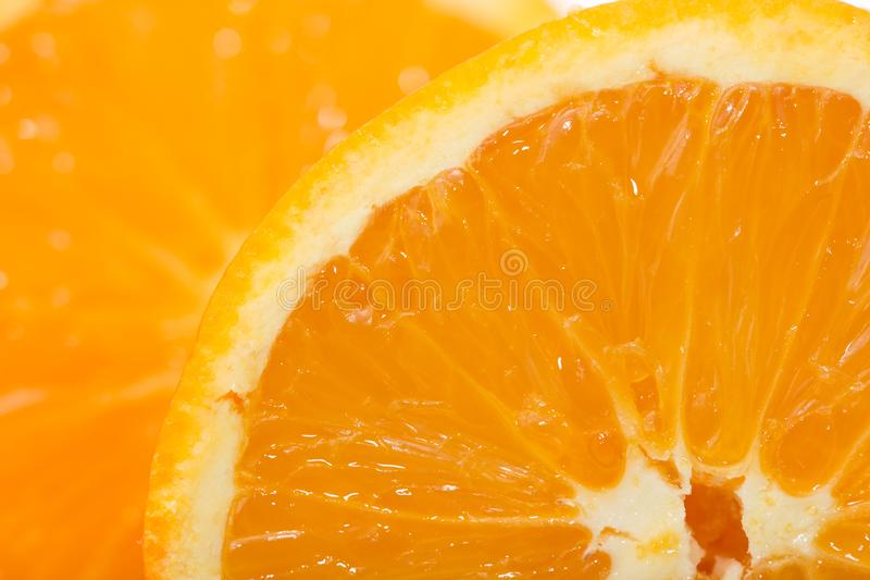 Macro photo d'une orange pour des milieux photos libres de droits