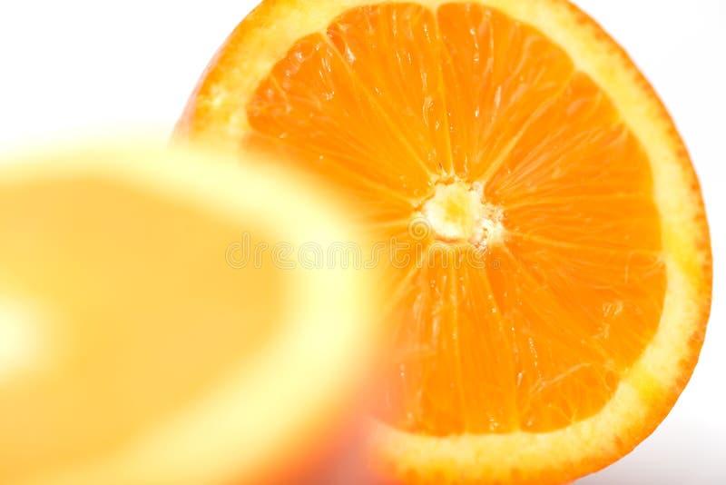 Macro photo d'une orange pour des milieux photo libre de droits