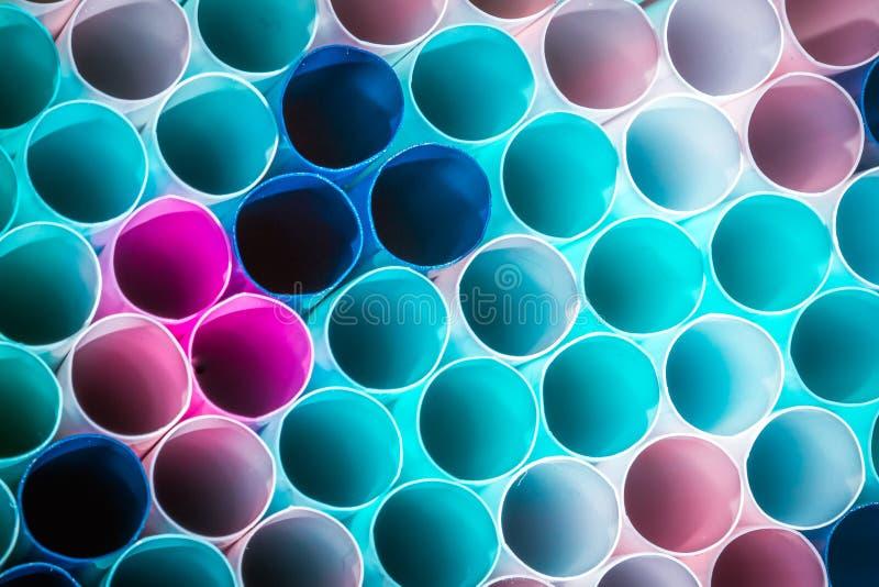 Macro photo de paille en plastique de boissons concept de la réutilisation pour conserver l'environnement photographie stock