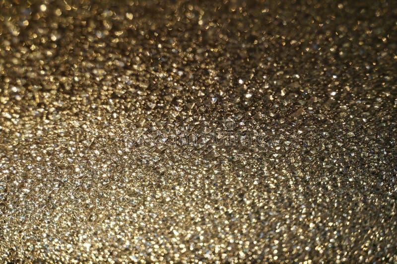 Macro photo de verre d'or photos libres de droits