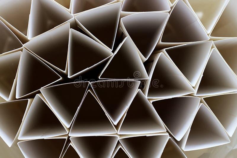 Macro photo des formes géométriques de papier en noir et blanc, thr images stock