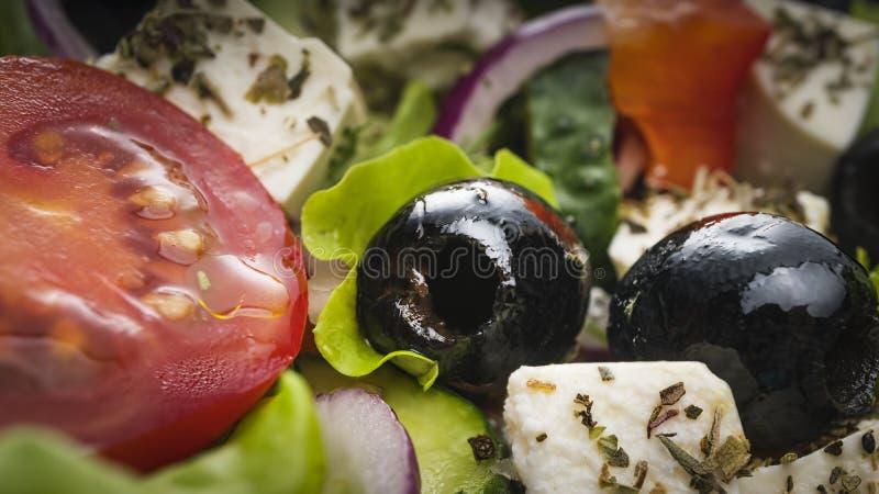 Greek salad, traditional, feta, chicken, authentic, grilled chicken, recipe, quinoa, panera, feta cheese stock photo