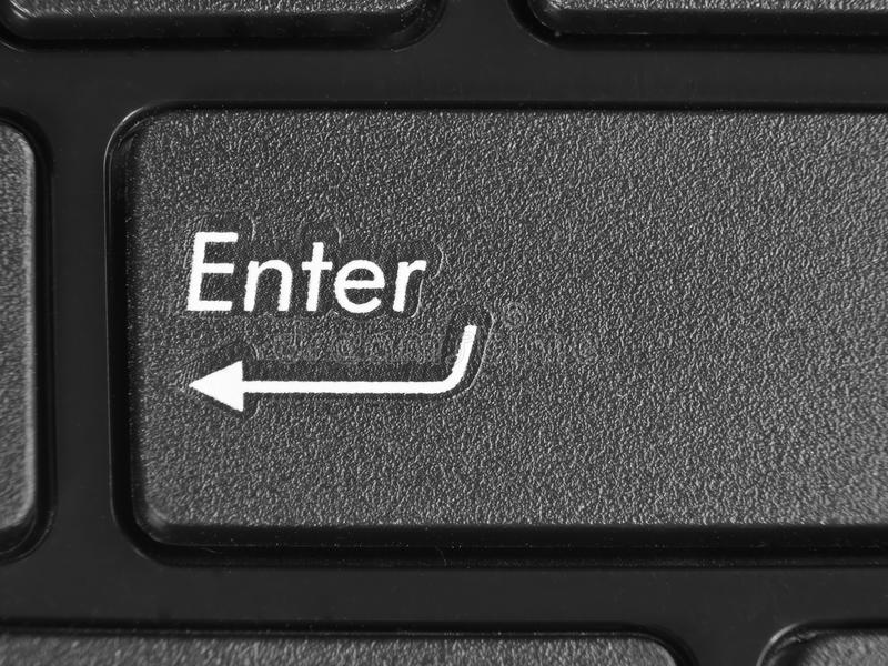 Download Macro Photo Of A Key Of Enter Stock Image - Image: 23993977