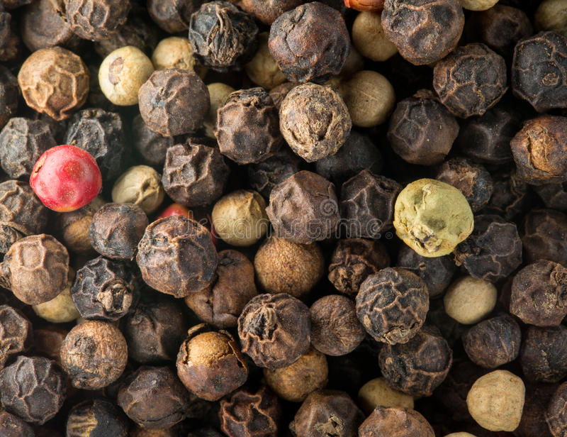 Download Macro Photo Of Mixed Peppercorn Seeds Stock Images - Image: 25969494