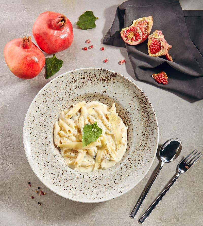 Free Macro Photo Of Penne Rigate 4 Cheeses Italian Pasta Stock Photo - 158214830