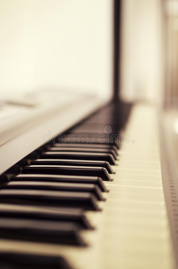 Macro Photo of Piano Keys royalty free stock images