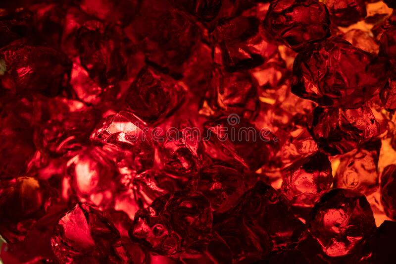 Macro photo of red gems stone carat. On a background. Closeup of texture mineral royalty free stock photo
