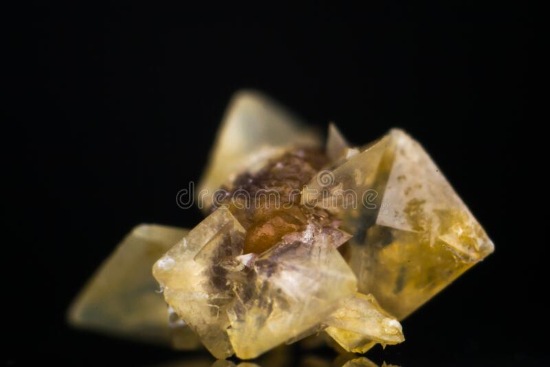 Macro photo of a small kidney stone. C stock photography