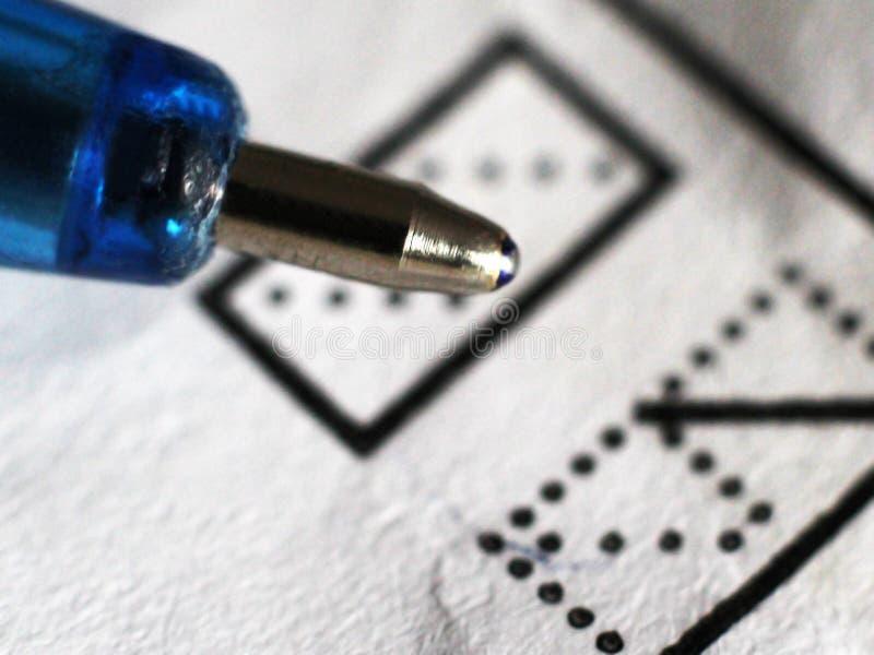 Macro photo, used ballpoint pen tip, close up royalty free stock photos