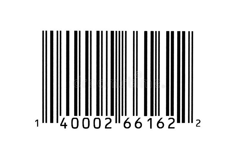Macro photograph of a bar code. Macro photograph of a UPC bar code royalty free stock image